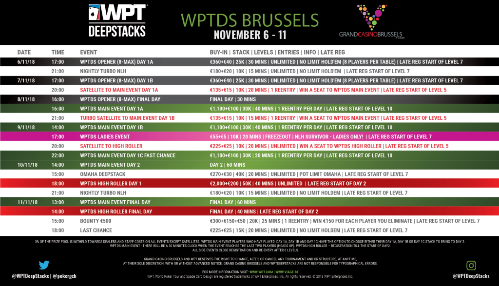 Shedule WPTDS Brussels